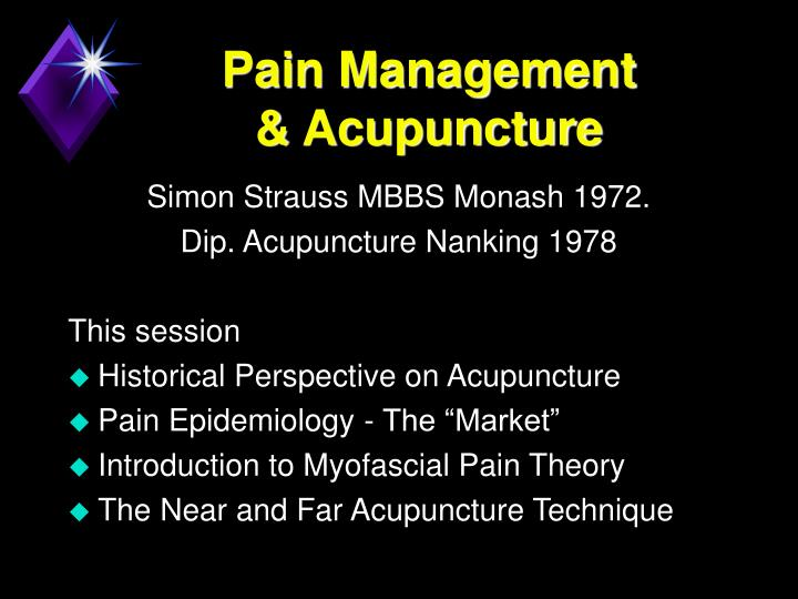 Pain management acupuncture