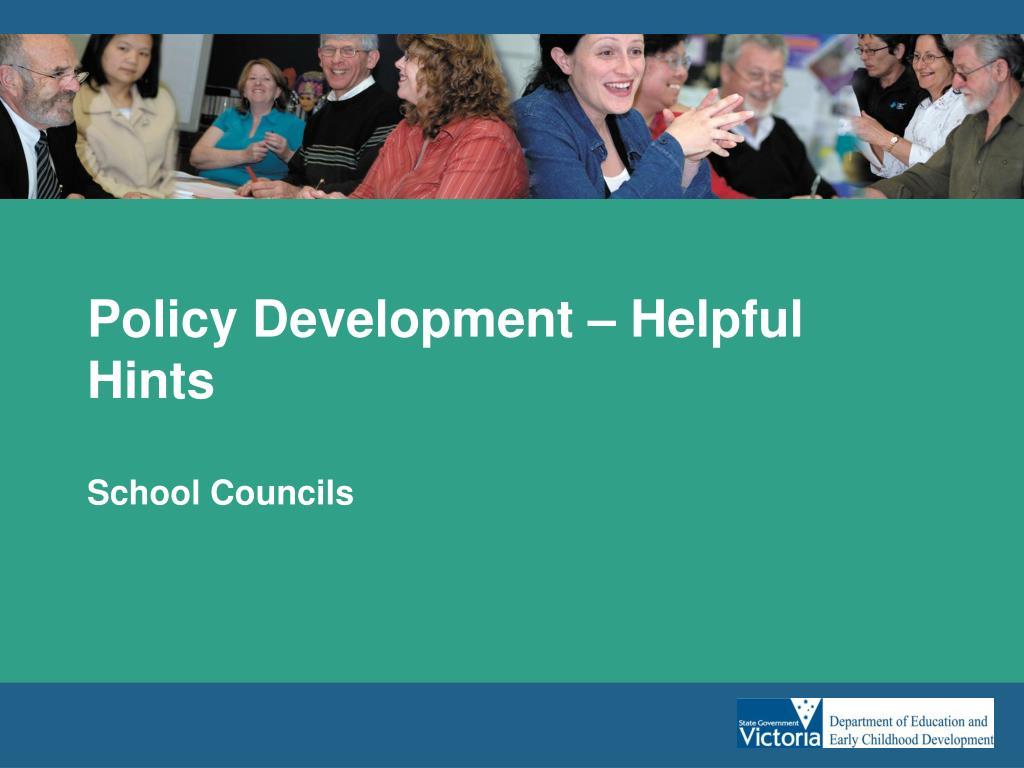 Policy Development – Helpful Hints