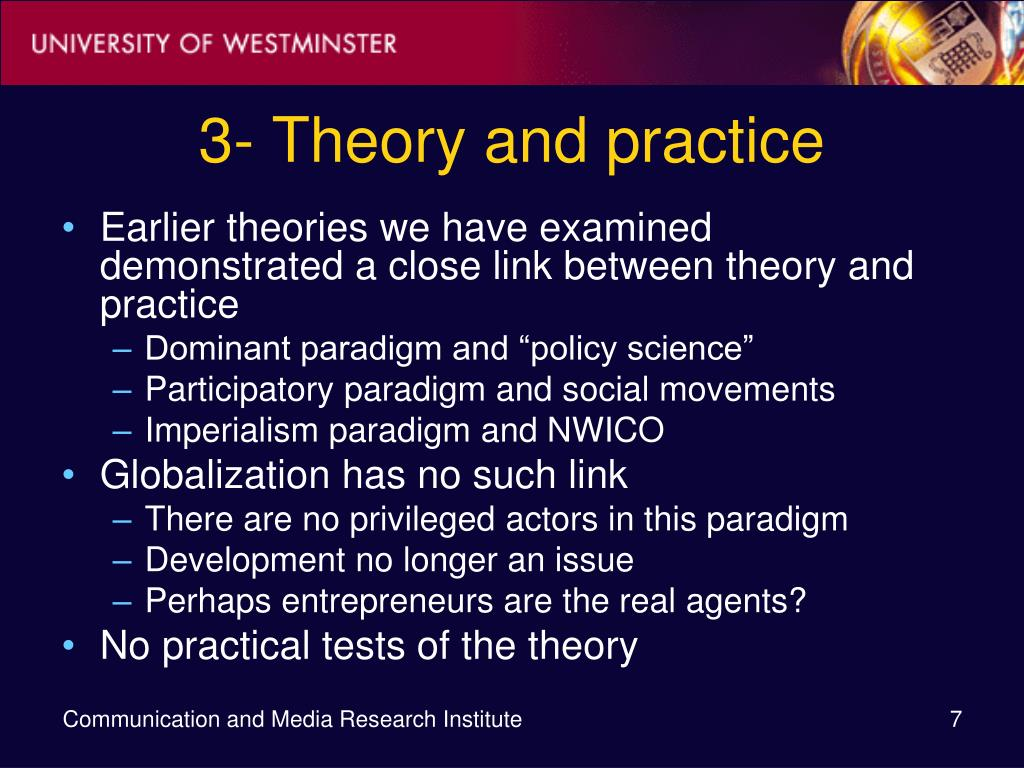 3- Theory and practice