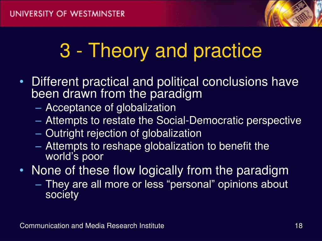 3 - Theory and practice