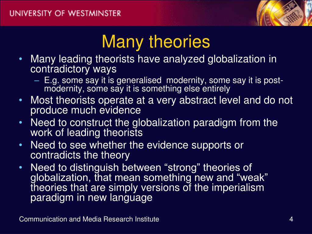 Many theories
