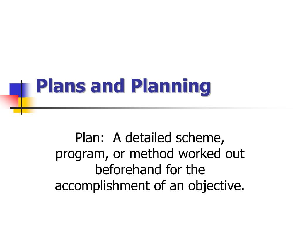 plans and planning l.