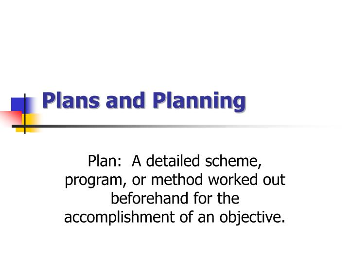 plans and planning n.