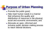 purpose of urban planning