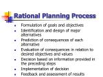 rational planning process