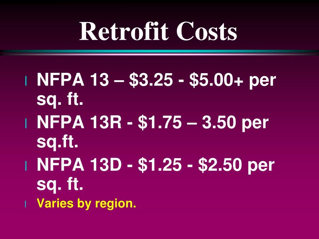 Retrofit Costs