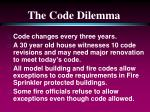 the code dilemma