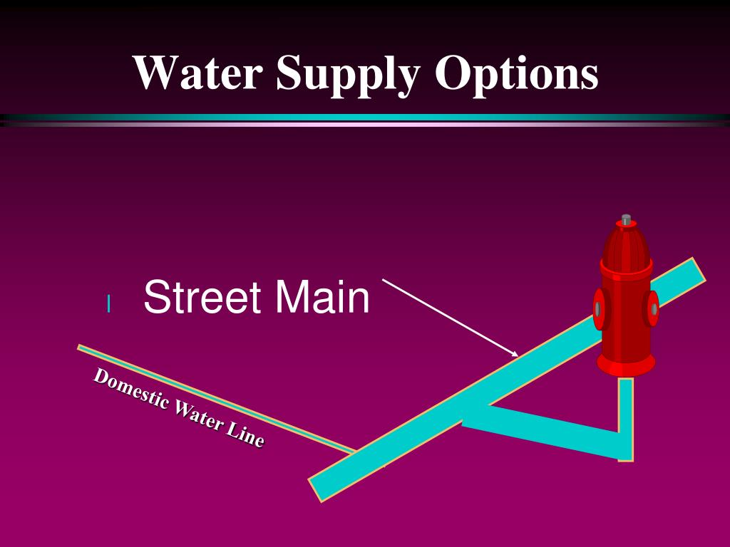 Water Supply Options