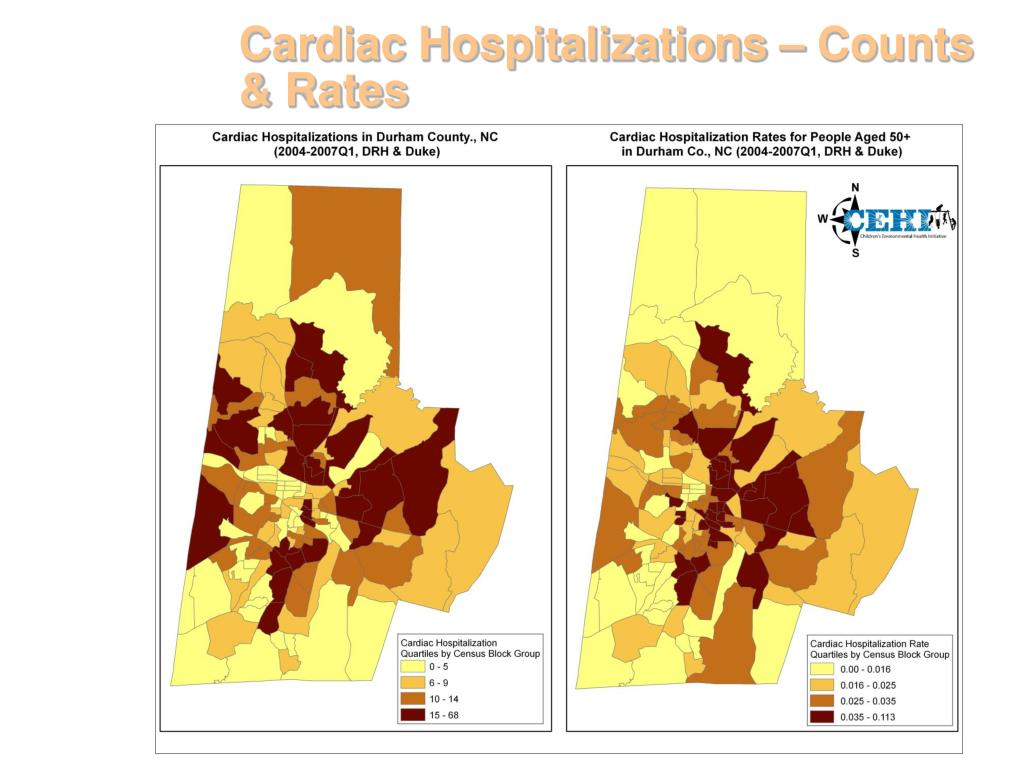 Cardiac Hospitalizations – Counts & Rates
