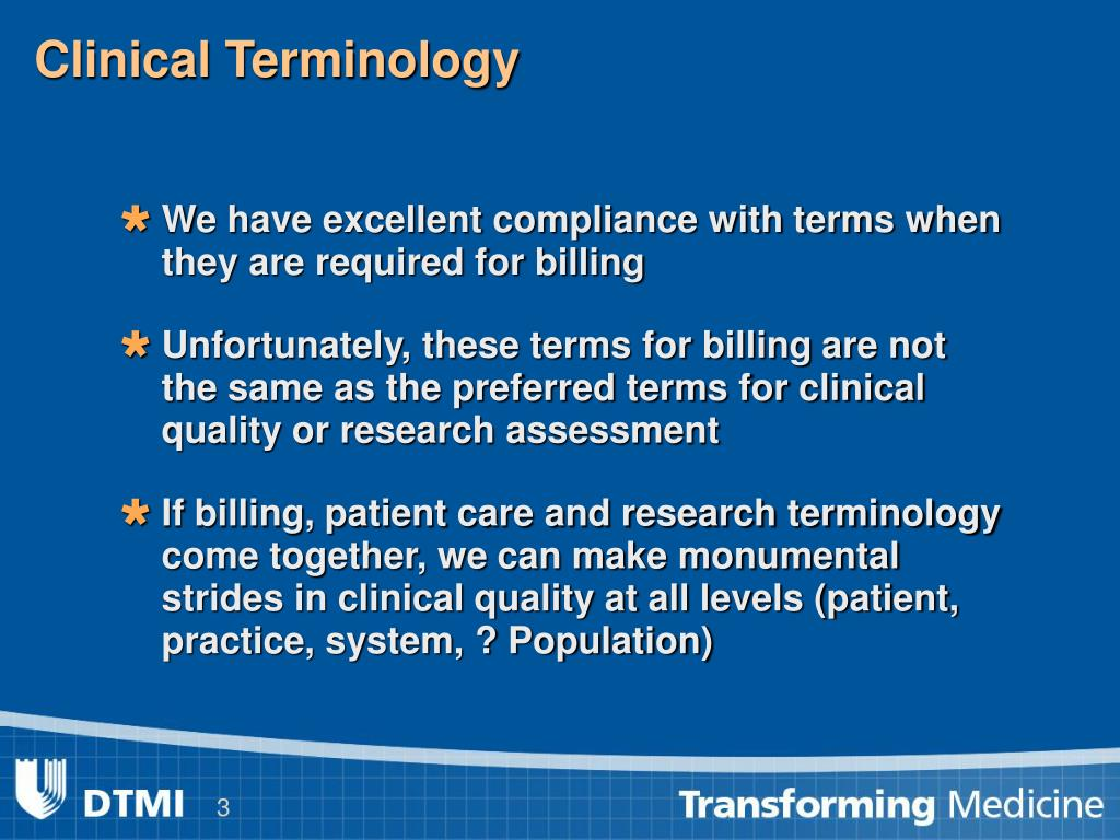 Clinical Terminology