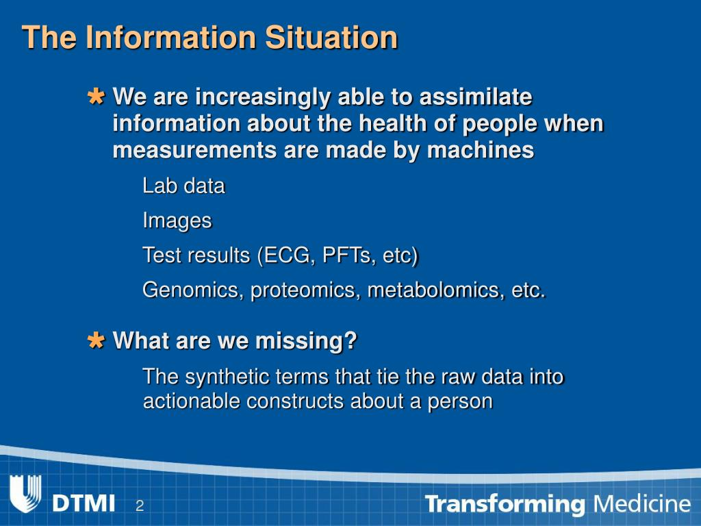 The Information Situation