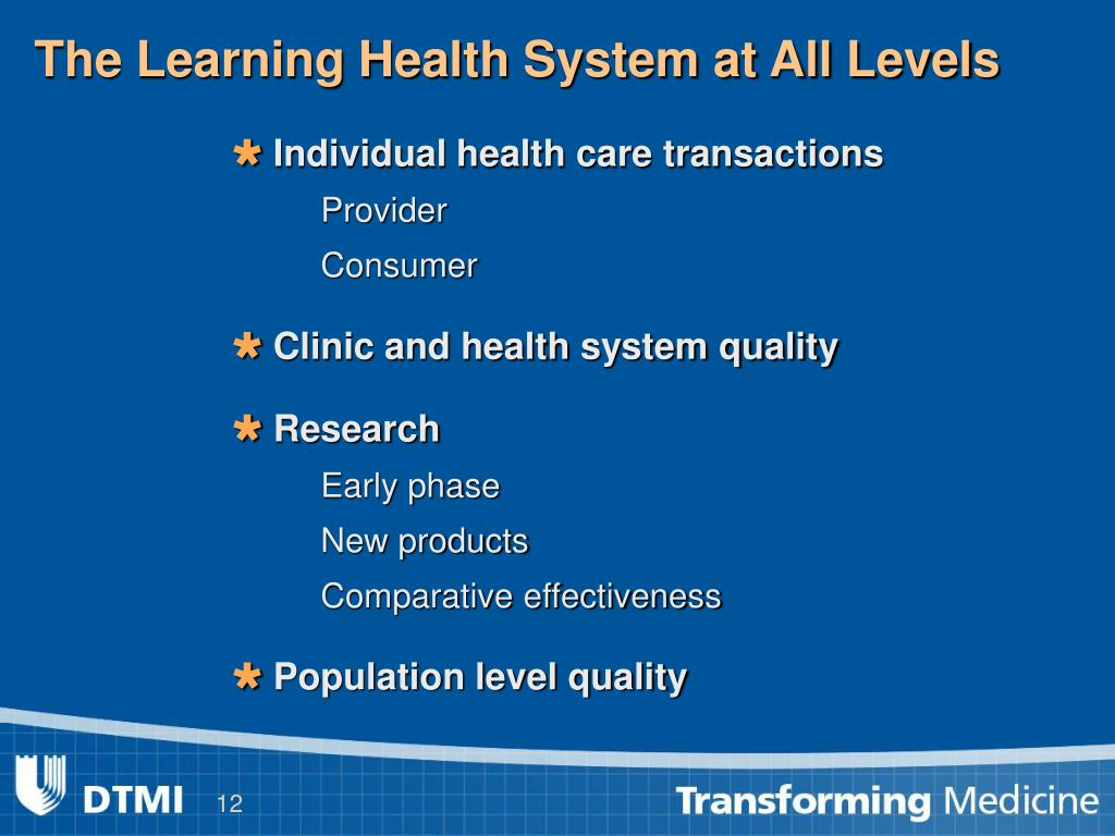 The Learning Health System at All Levels