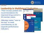 cicad leadership in multilateral evaluation