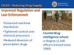 improved regulation and law enforcement