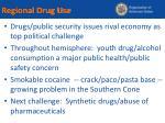 regional drug use