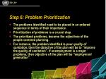 step 6 problem prioritization