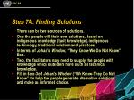 step 7a finding solutions