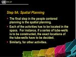 step 9a spatial planning