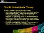 step 9b kinds of spatial planning