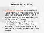 development of vision67