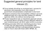 suggested general principles for land release 2