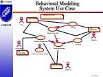 behavioral modeling system use case