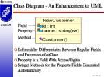 class diagram an enhancement to uml