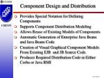 component design and distribution