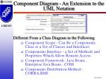 component diagram an extension to the uml notation