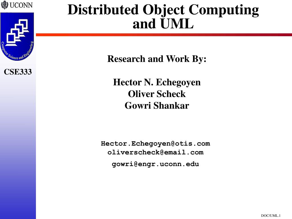 distributed object computing and uml