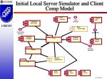 initial local server simulator and client comp model