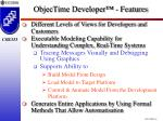 objectime developer features
