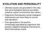 evolution and personality12