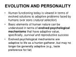 evolution and personality13