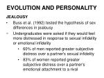 evolution and personality20