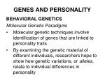 genes and personality32