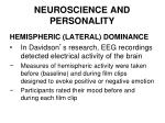 neuroscience and personality39