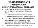neuroscience and personality40