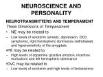 neuroscience and personality45