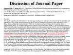 discussion of journal paper