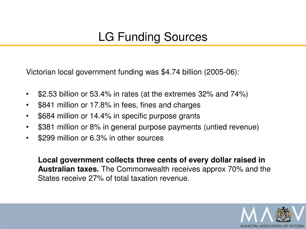 LG Funding Sources