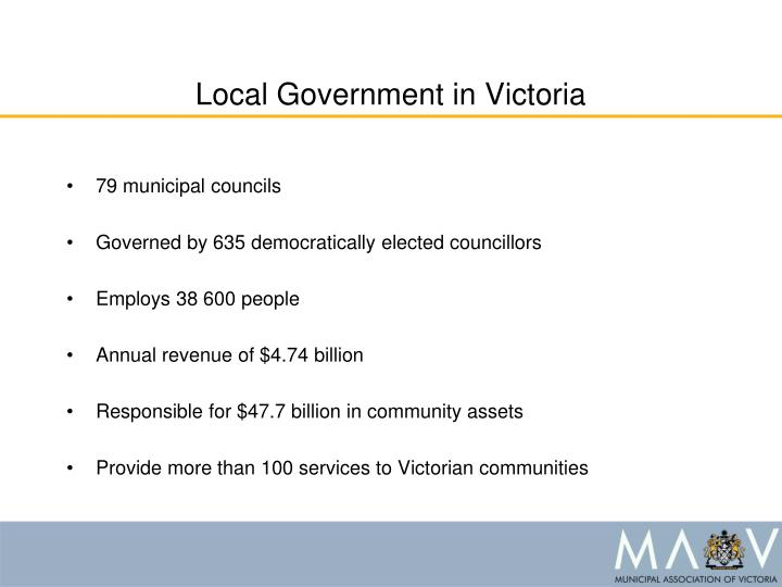 Local government in victoria