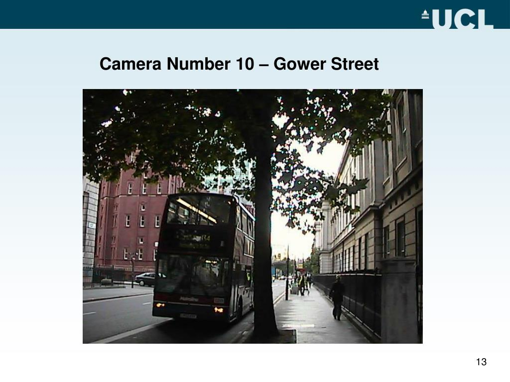 Camera Number 10 – Gower Street