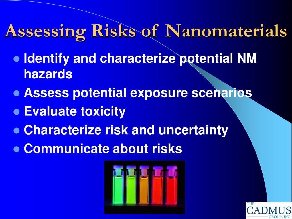 Assessing Risks of Nanomaterials