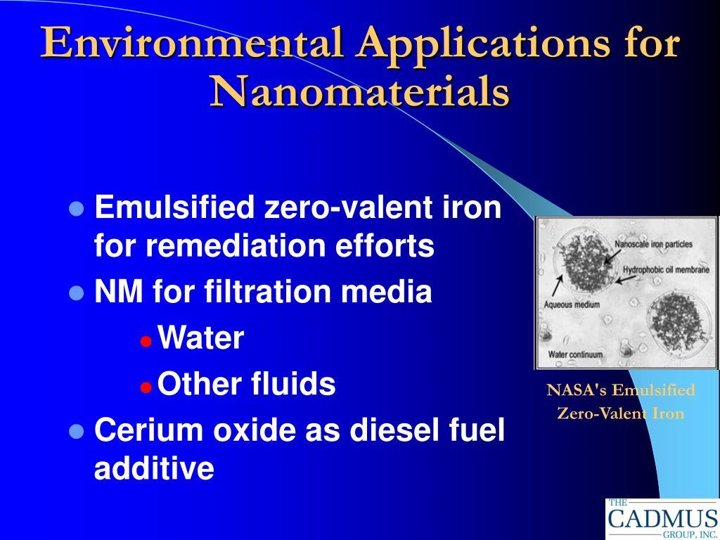 Environmental Applications for Nanomaterials