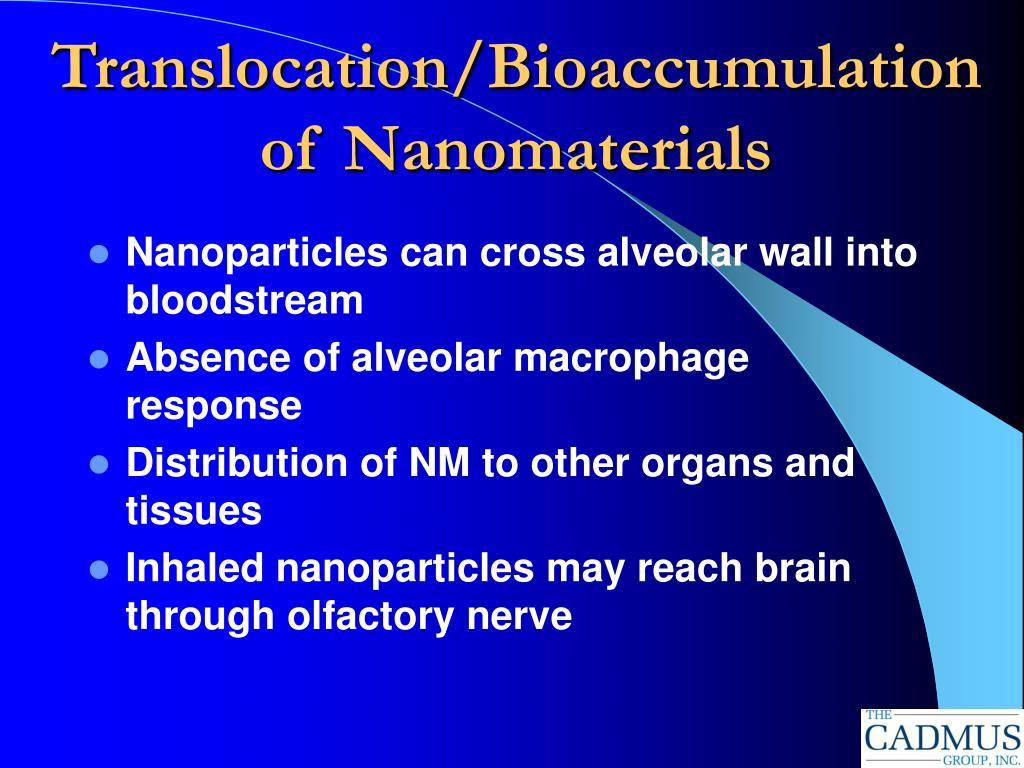 Translocation/Bioaccumulation