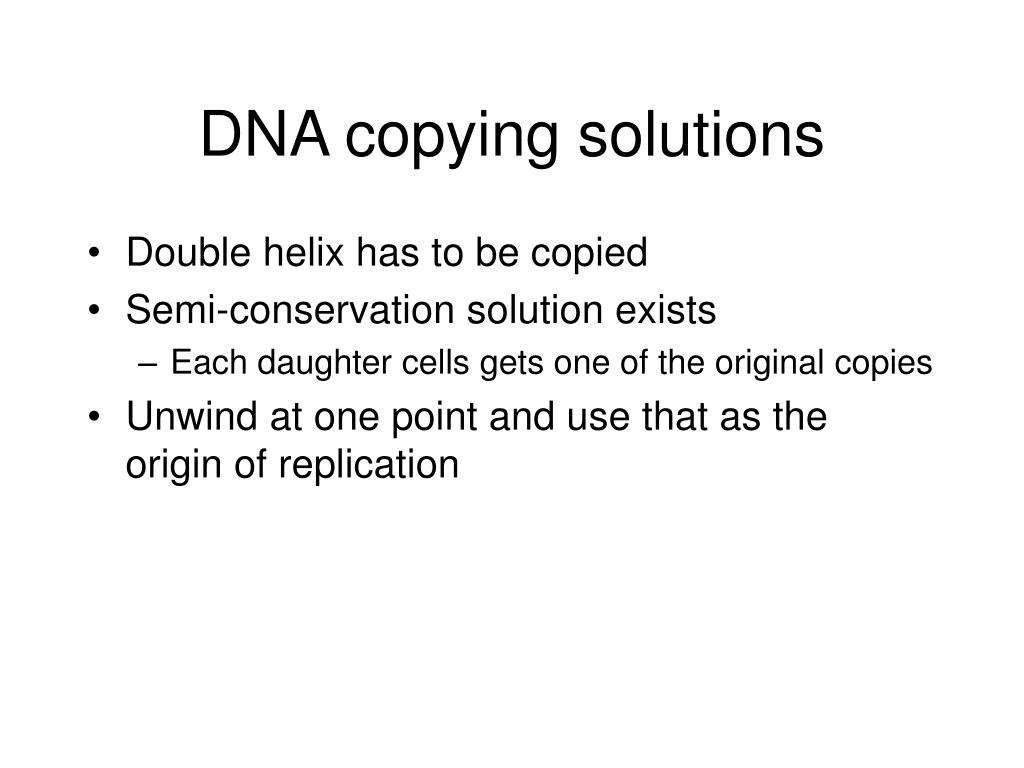 DNA copying solutions