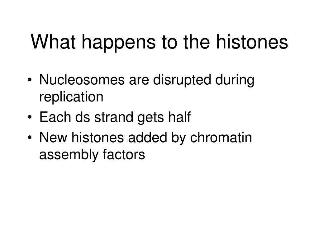 What happens to the histones