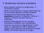 v quaternary structure of proteins