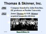 thomas skinner inc